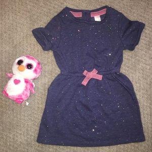 Cat & Jack   Glitter Sweatshirt Dress